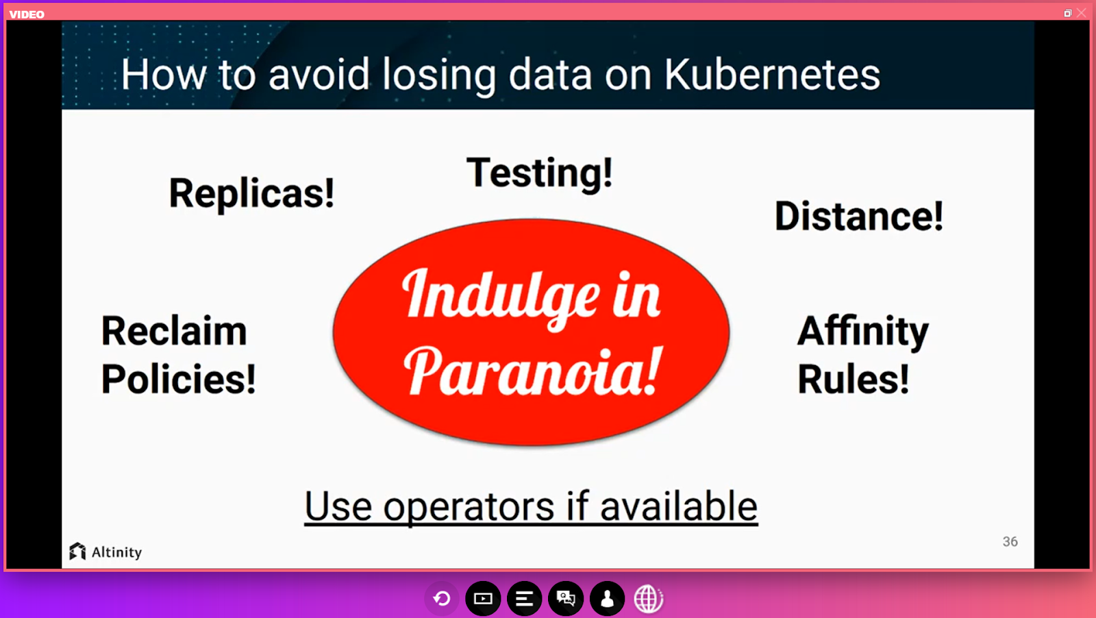 persistent data on Kubernetes